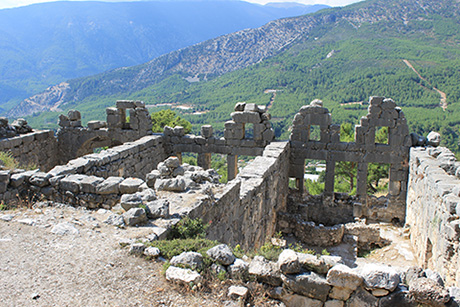 Arykanda Roman Baths - vist on guided walking holiday