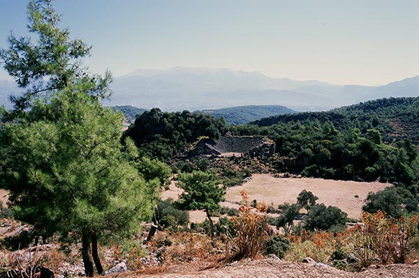 View of Pinara, Turkey on guided walking holiday