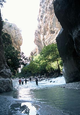Saklikent gorge on guided walking holiday