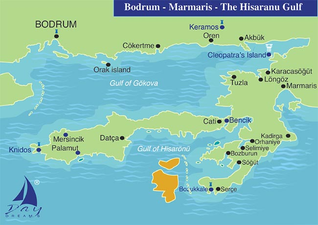 BODRUM - MARMARIS - The Hisaranu Gulf