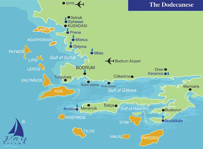 THE DODECANESE - NORTHERN ROUTE